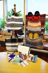 自主制作活動から生まれる 色合い豊かな裂き織り製品
