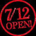 7/12 OPEN